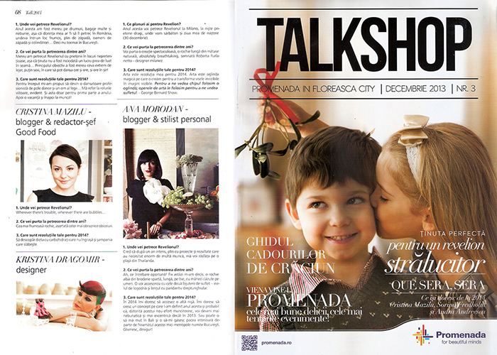 2013, December - Talkshop - Ana Morodan