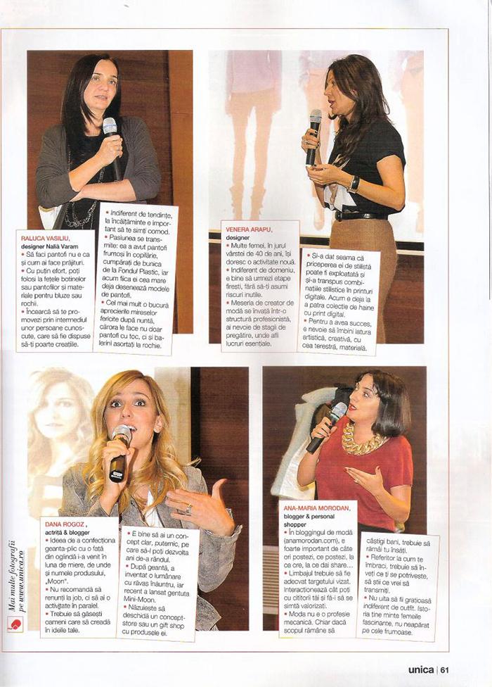 2013, November - Unica - Ana Morodan 2