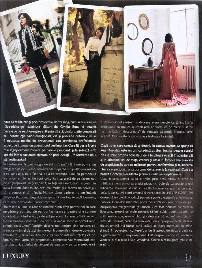 2013, September - Luxury Magazine - Ana Morodan 3