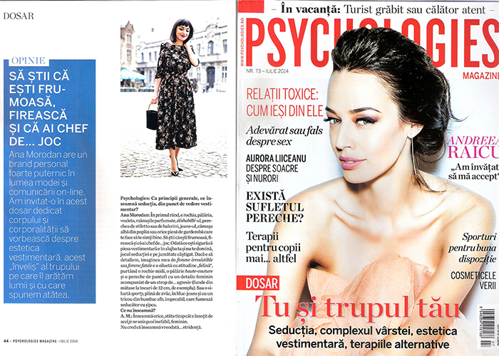 2014, July - Psychologies - Ana Morodan 1