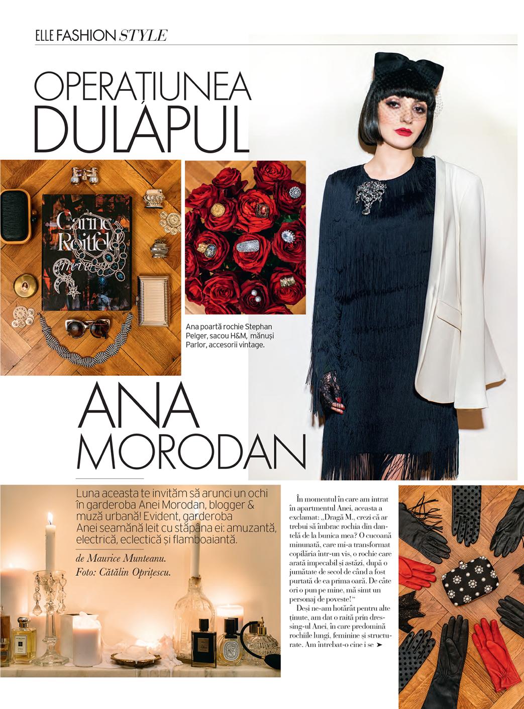 Ana Morodan in Elle Romania 1043