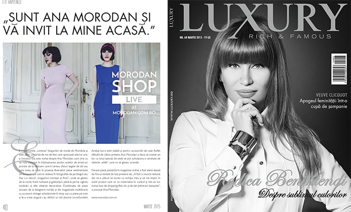 Ana Morodan in Luxury Magazine