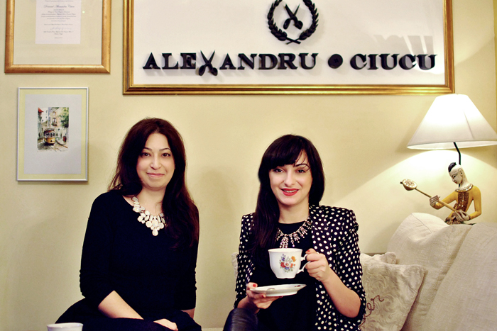 Ana and Irina visits Alexandru Ciucu showroom