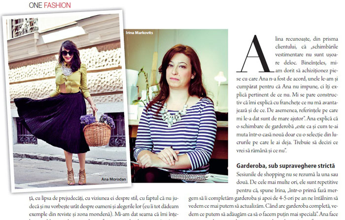 Ana is in The One Magazine