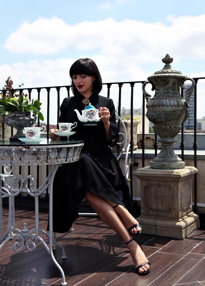 Ana enjoying her tea