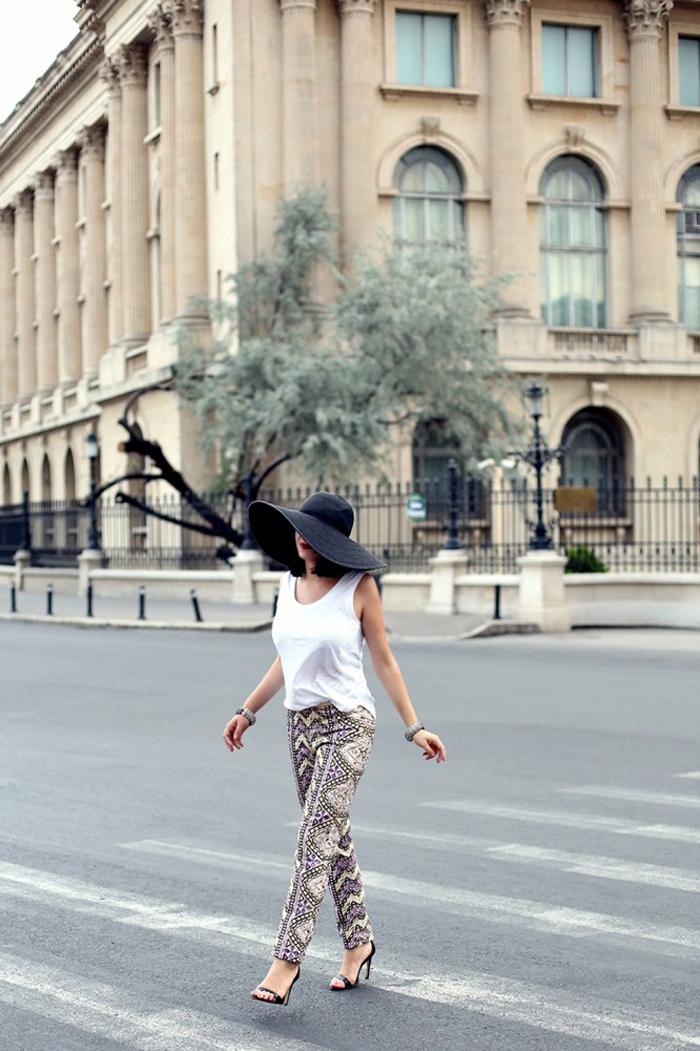 Ana walking around the city