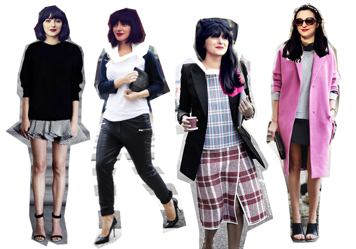 fashionable collages