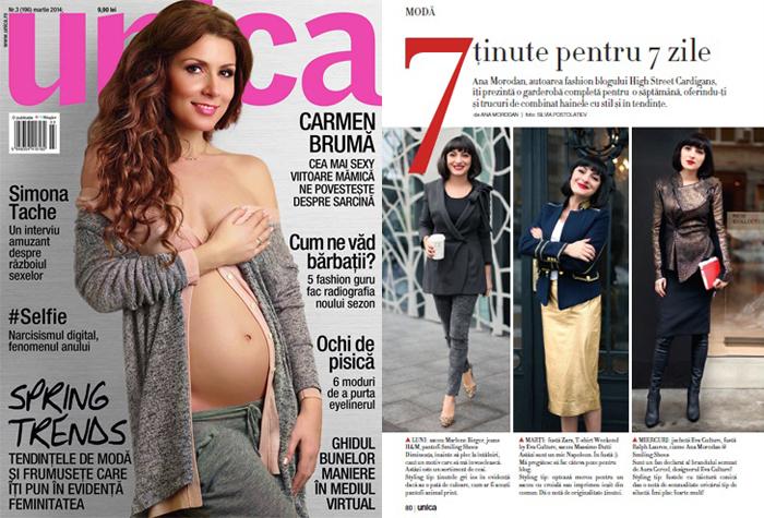 Ana Morodan in Unica Magazine