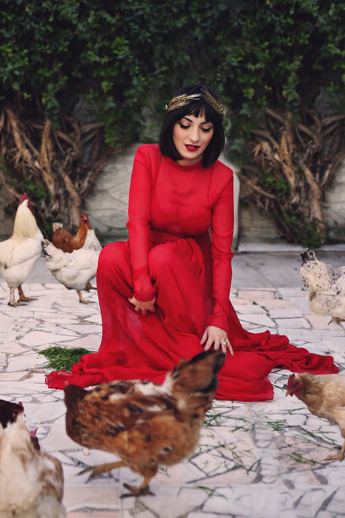 ana and the chickens