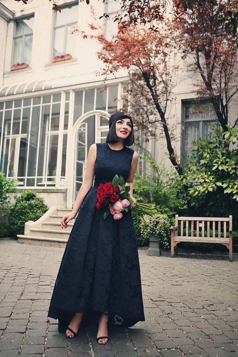 black HM dress