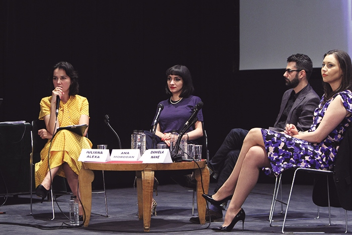 ana speaking about Seduction along with Marius Chivu and Daneila Nane 2