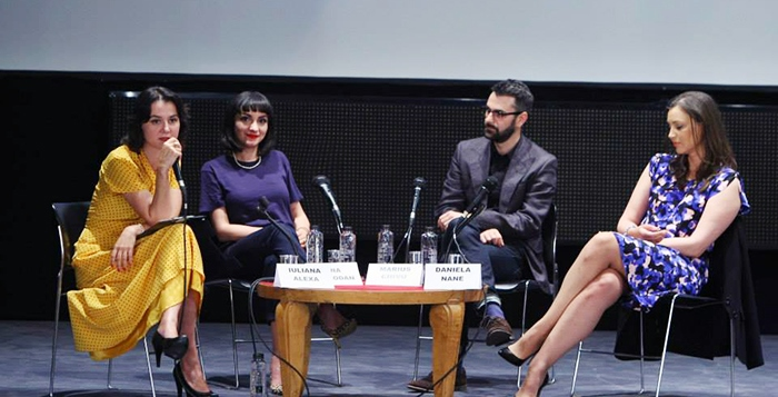 ana speaking about Seduction along with Marius Chivu and Daneila Nane