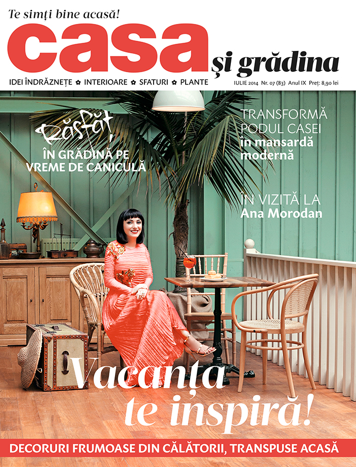 Ana on the cover of Casa si Gradina